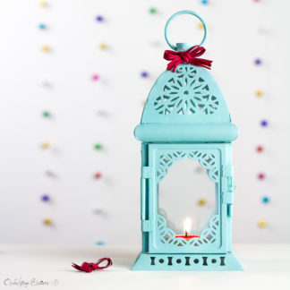 Turquoise Candle Holder Lantern Exotic Moroccan Decor