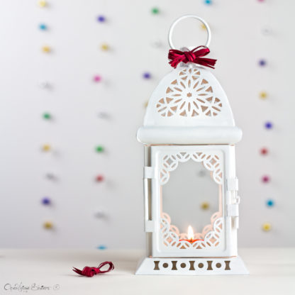 White Wedding Lantern Centerpiece - Vintage Shabby Chic - Wedding Decor - Wedding Table Centerpieces - Centerpiece Ideas - Moroccan Lantern