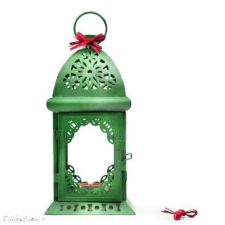 Moorish Lamp, Moorish design, Moorish lighting, Exotic Green Ombre Candle Lantern Centerpiece, Filigree Metal Candle Holders