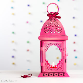 Hot Pink Lamp, Moroccan Lantern, Exotic Decor, Pink Metal Candle Holder, Wedding Decoration, Baby Girl Shower Nursery Decor