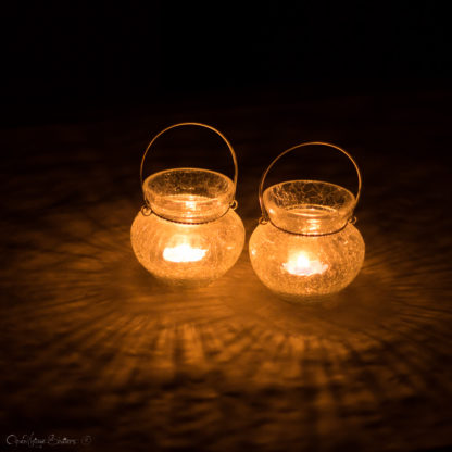 Frost Votive Glass Tea light Candle Holder Engagement Party Decoration Hanging Lighting Holiday Gifts Set of 2