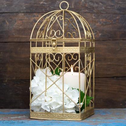 Antique Gold Bird Cage - Gold Christmas Home Decor