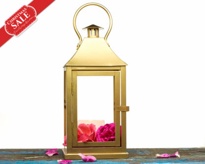 Tabletop Indoor Outdoor Lantern Centerpiece-Gold Candle Holder-Golden Wedding Lantern Card Holder-Christmas mantle Decor-Gold Decor