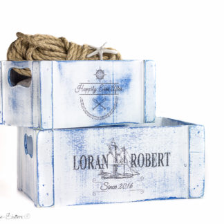 Happily Ever After - Nautical Wedding Wooden Crate