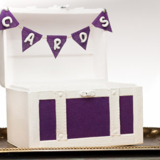 Banner Purple Wedding Chest Gift Card box Banner - Eggplant Baby Shower Sign - Home Dorm Decor Trunk Banner - Cards Banner