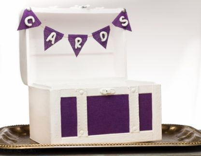 Banner Purple Wedding Chest Gift Card box Banner - Eggplant Baby Shower Sign - Home Dorm Decor Trunk Banner - Cards Banner