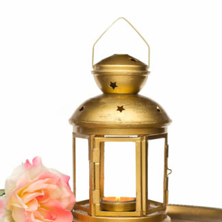Vintage Gold style Wedding Lantern - Shabby Chic - Outdoor Lantern - Golden Candle Holder - Holiday Gifts