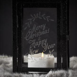 Merry Christmas Lantern - Christmas Mantle Decor
