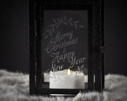 Merry Christmas Lantern - Christmas Mantle Decor